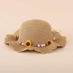Chapeau de paille avec perles - SHEIN - Modalova