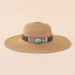 Chapeau de paille avec turquoise - SHEIN - Modalova