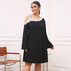 Robe tunique en dentelle applique à col asymétrique - SHEIN - Modalova