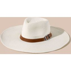 Chapeau de paille à boucle - SHEIN - Modalova
