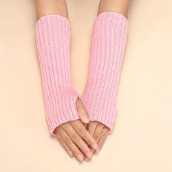 Gants mitaines en tricot long - SHEIN - Modalova
