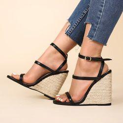 Chaussures compensées espadrilles bicolore à plates formes - SHEIN - Modalova
