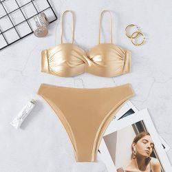 Bikini push-up unicolore - SHEIN - Modalova