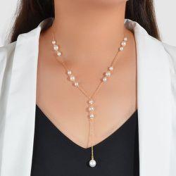 Collier avec pendentif et fausse perle - SHEIN - Modalova