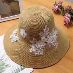 Chapeau de paille à fleur - SHEIN - Modalova