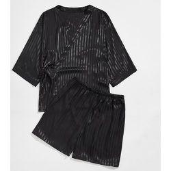 Ensemble de pyjama top à nœud & short - SHEIN - Modalova