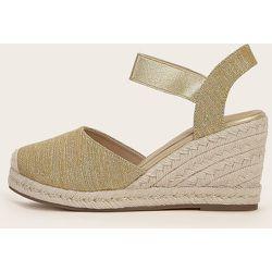 Chaussures compensées espadrilles métalliques - SHEIN - Modalova