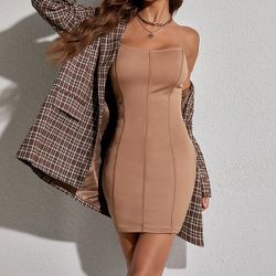 Robe bustier moulante - SHEIN - Modalova