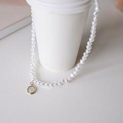 Collier à pendentif ovale à fausse perle - SHEIN - Modalova