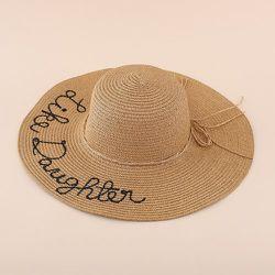 Chapeau de paille à broderie - SHEIN - Modalova