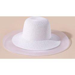 Chapeau de paille à tulle - SHEIN - Modalova