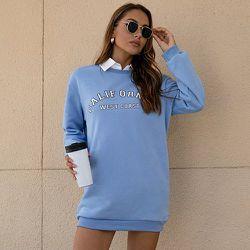 Robe sweat-shirt lettre - SHEIN - Modalova