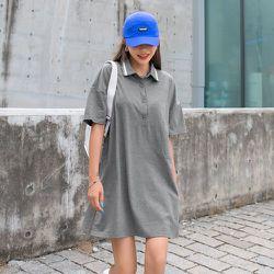 Robe t-shirt polo - SHEIN - Modalova