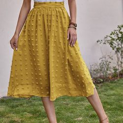 Jupe mi-longue taille haute - SHEIN - Modalova