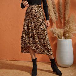Jupe léopard asymétrique - SHEIN - Modalova