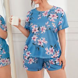 Fleuri T-shirt & Short Ensemble de pyjama - SHEIN - Modalova