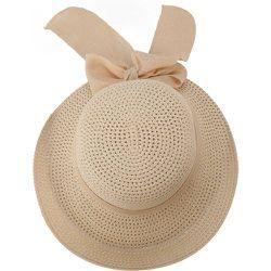 Chapeau de paille avec nœud - SHEIN - Modalova