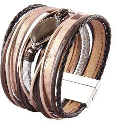 Bracelet multicouche en cuir PU - SHEIN - Modalova