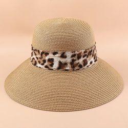 Chapeau de paille à léopard - SHEIN - Modalova