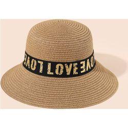 Chapeau de paille lettre - SHEIN - Modalova