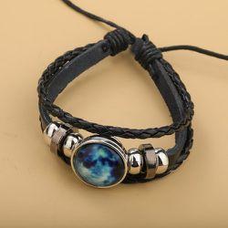Bracelet tressé en cuir PU - SHEIN - Modalova