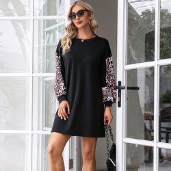 Robe sweat-shirt léopard - SHEIN - Modalova