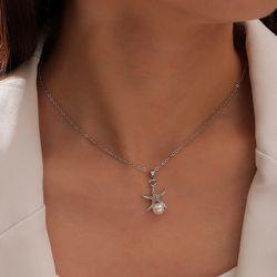 Collier avec pendentif de fausse perle - SHEIN - Modalova