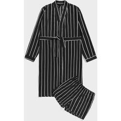 Ensemble de pyjama short et robe à rayures ceinturée - SHEIN - Modalova