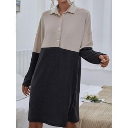 Robe chemise bicolore - SHEIN - Modalova
