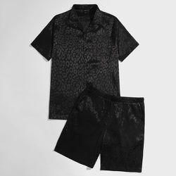 Ensemble de pyjama short et chemise à motif léopard - SHEIN - Modalova