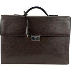 Sac de travail porte-documents en cuir texturé d'occasion , , Taille: Onesize - Loewe Pre-owned - Modalova