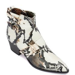Snake printed leather ankle boots , , Taille: 39 - Baldinini - Modalova