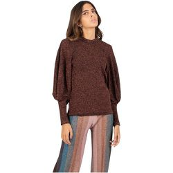 Copper lurex sweater with balloon sleeves , , Taille: 38 IT - Circus Hotel - Modalova