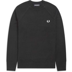 Contrast Texture Crew Neck Jumper , , Taille: L - Fred Perry - Modalova