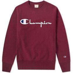 Reverse Weave Script Logo Crew Sweatshirt , , Taille: XL - Champion - Modalova