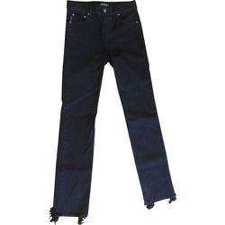 Distressed Hem Straight Jeans , , Taille: 46 - Balenciaga Vintage - Modalova
