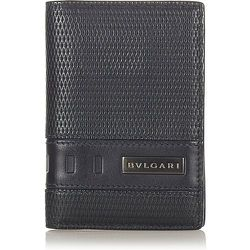 Pre-owned Leather Card Holder , , Taille: Onesize - Bvlgari Vintage - Modalova