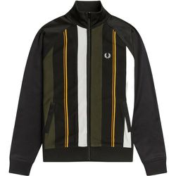 Knitted Stripe Track Jacket J2526 102 , , Taille: L - Fred Perry - Modalova