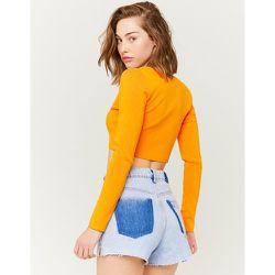 Short en Jean Destroy Taille Haute - Tw - Modalova