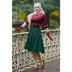 Sheila Swing Skirt Années 50 en Sapin - vintage chic for topvintage - Modalova