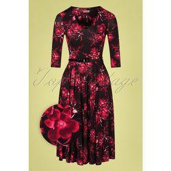 Cora Floral Swing Dress Années 50 en - vintage chic for topvintage - Modalova