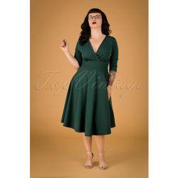 Maddison Swing Dress Années 50 en Sapin - vintage chic for topvintage - Modalova