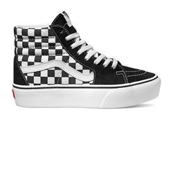 Sk8-hi Platform Checker Noir/blanc - Vans - Modalova