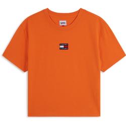 Tee Shirt Center Badge Logo Orange - Tommy Jeans - Modalova