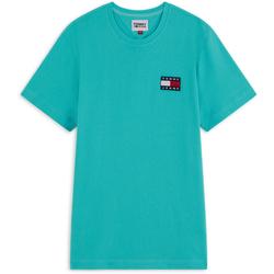 Tee Shirt Tjm Badge Bleu Turquoise - Tommy Jeans - Modalova