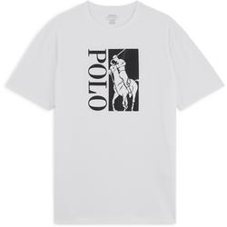 Tee Shirt Polo Active Blanc/noir - Polo Ralph Lauren - Modalova