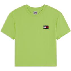 Tee Shirt Tmj Badge Vert - Tommy Jeans - Modalova