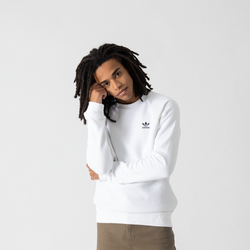 Sweat Crew Small Trefoil Blanc - adidas Originals - Modalova