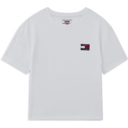 Tee Shirt Tmj Badge Blanc - Tommy Jeans - Modalova