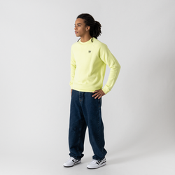 Sweat Crew Small Trefoil Jaune - adidas Originals - Modalova